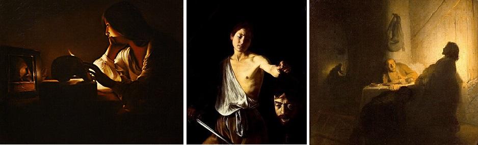 De la tour, Caravage, Rembrandt