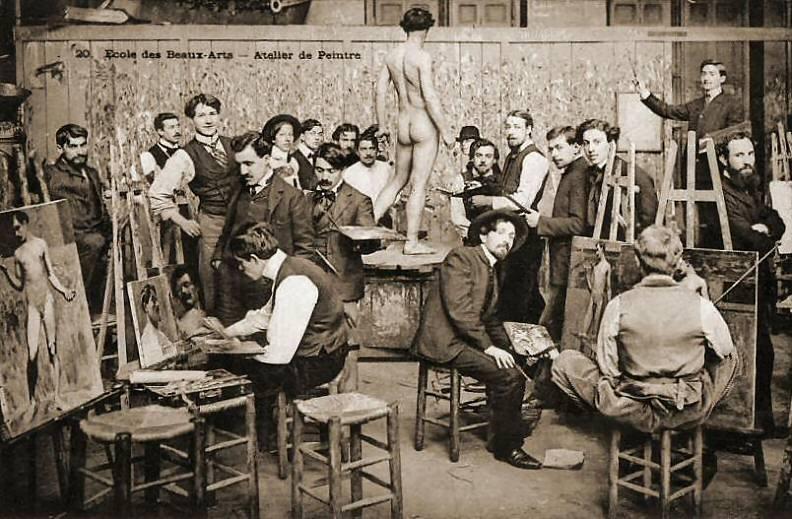 Atelier des dessin. Ecole des Beaux-arts