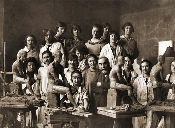 Atelier_Sicard. Ecole des Beaux-arts. 1917