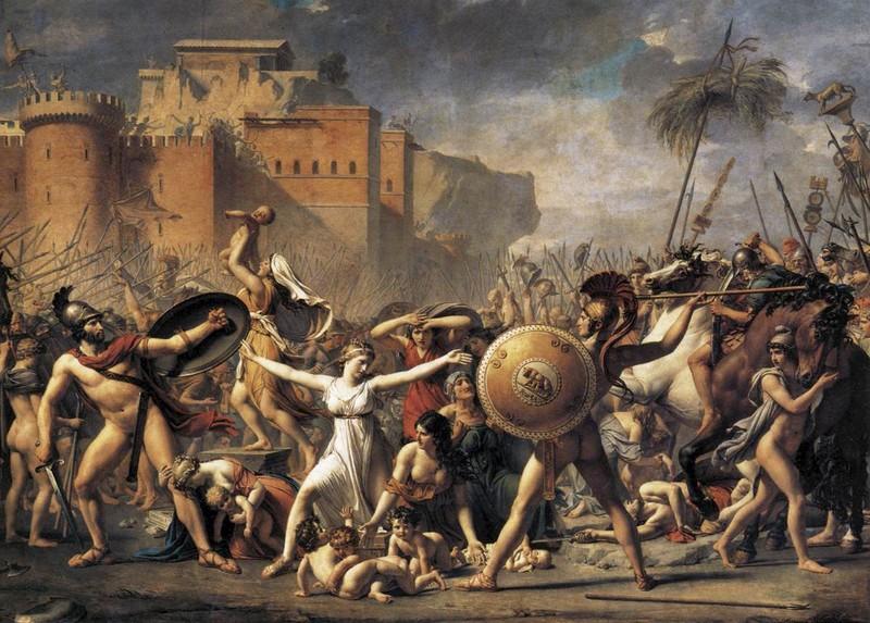 Jacques-Louis David. Les Sabines. 1799. Musée du Louvre