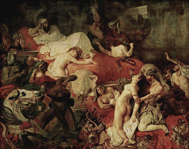 La Mort de Sardanapale. Delacroix. 1827