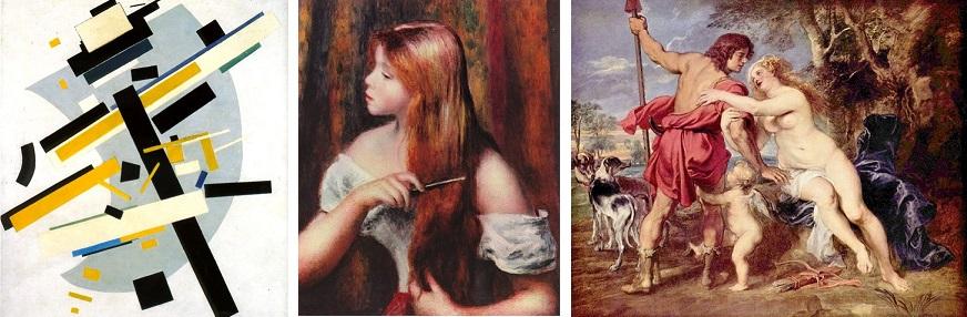 Malevitch, Renoir, Rubens
