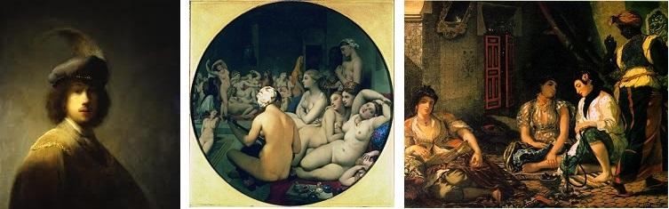 Rembrandt, Ingres et Delacroix