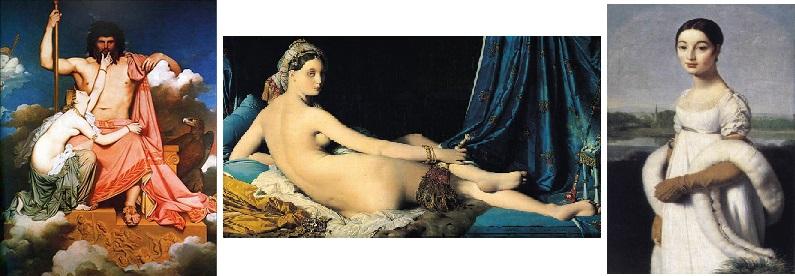 Jupiter et Thétis - La Grande Odalisque - portrait de Mlle Rivière
