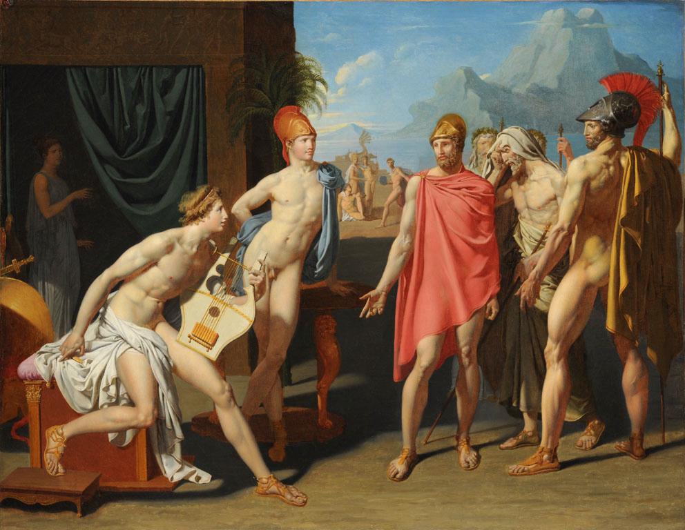 Ingres - Achille recevant les ambassadeurs d'Agamemnon - 1801