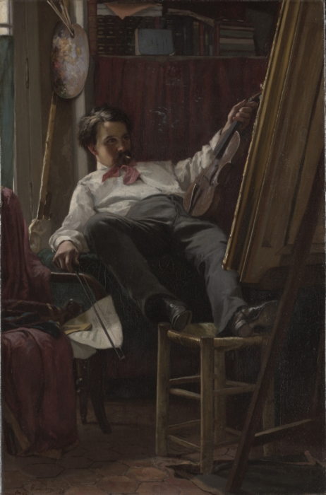 Thomas-Hovenden-Self_Portrait_of_the_Artist_in_His_Studio_by_Thomas_Hovenden_1875