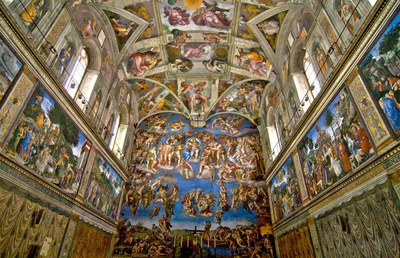 8 peintures qui ont marqu l 39 histoire technique de peinture - Fresque du plafond de la chapelle sixtine ...