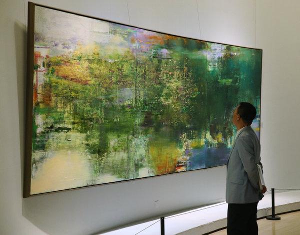 """You are currently viewing Wang Yan Cheng, le maître de """"l'abstrait lyrique""""."""